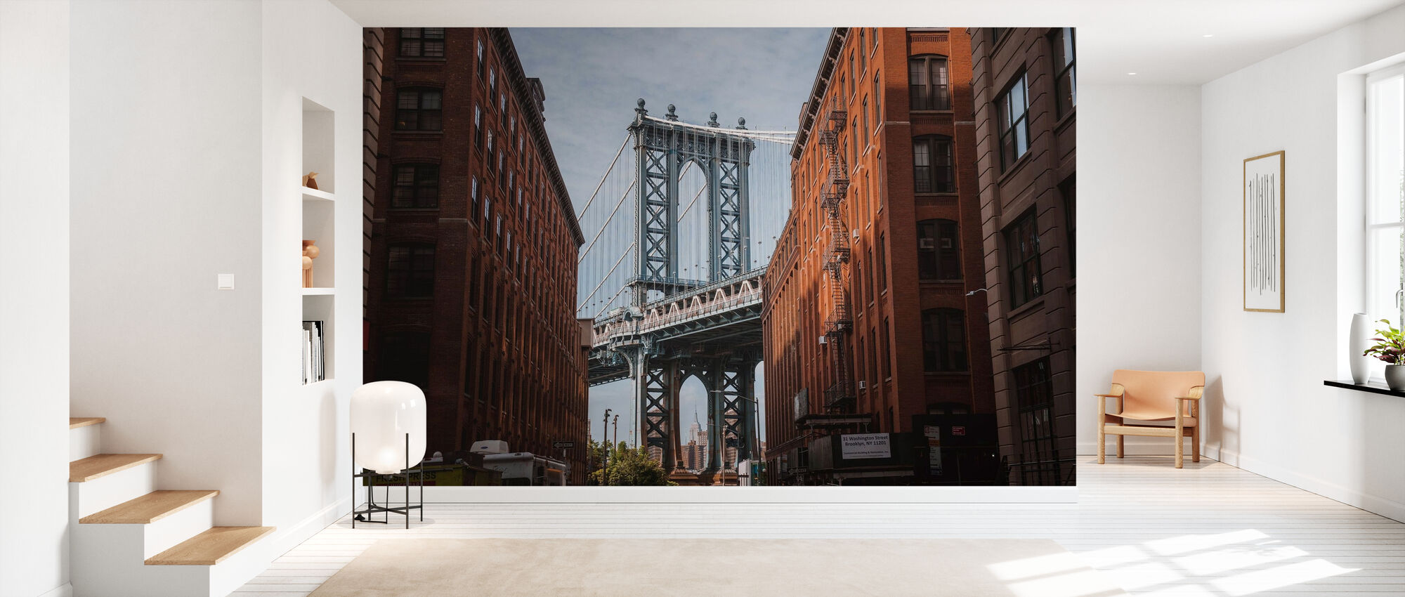 Brooklyn Bridge View - Wallpaper - Hallway