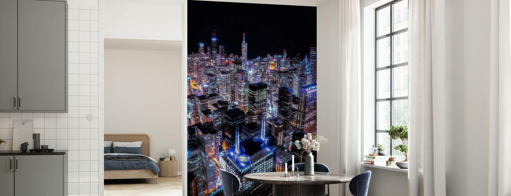 Chicago Night - Wallpaper - Kitchen