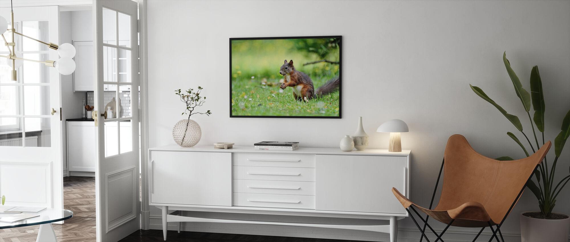 Oravien väestönlaskenta - Kehystetty kuva - Olohuone