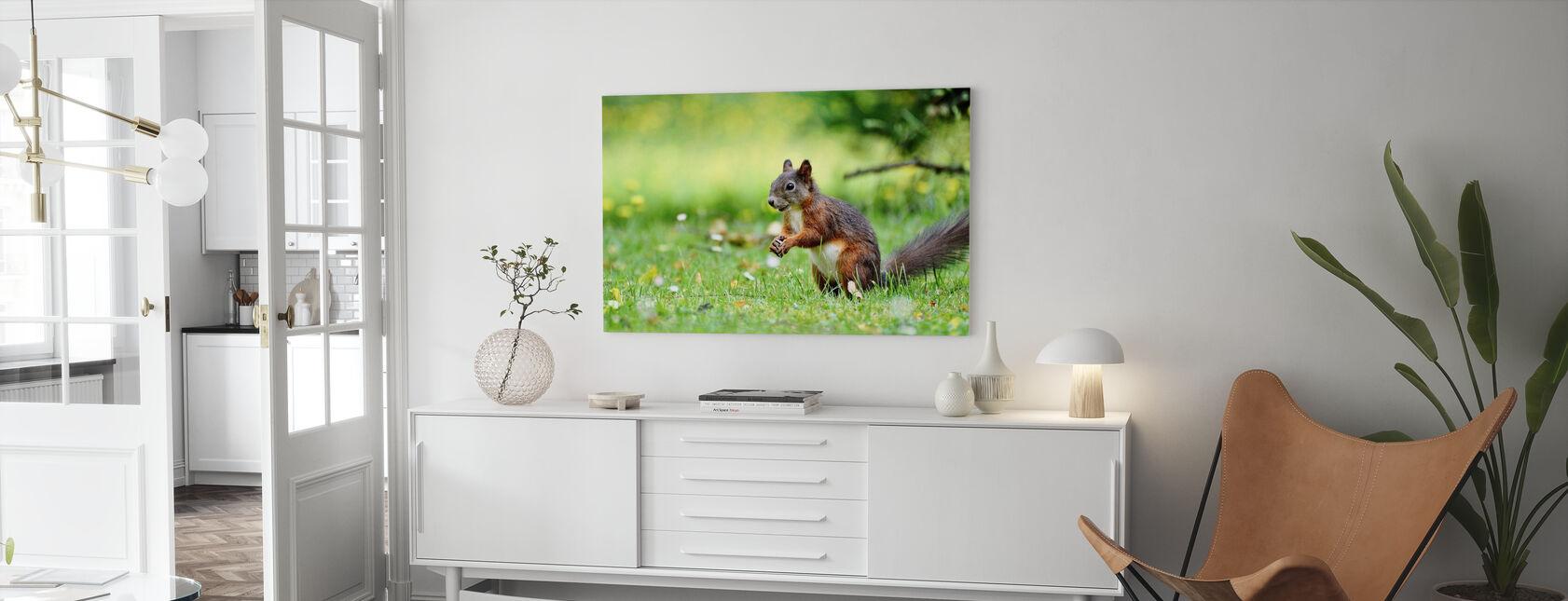 Squirrel Census - Canvas print - Living Room