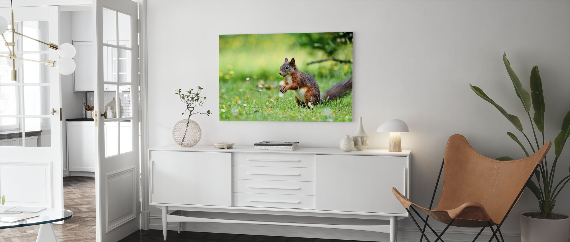 Oravien väestönlaskenta - Canvastaulu - Olohuone