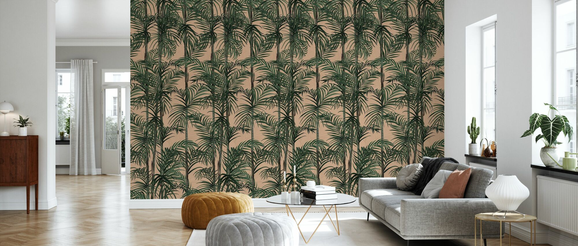Botany Bamboo - Afternoon Blush - Wallpaper - Living Room