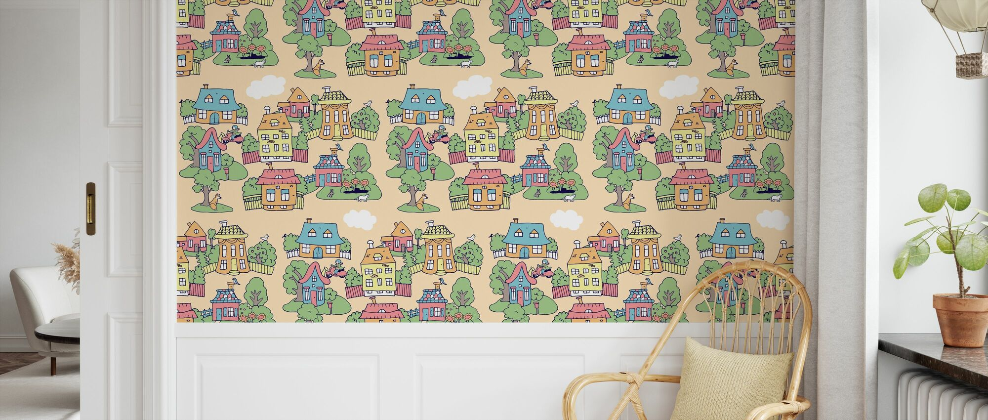 Little Town Sand - Wallpaper - Kids Room