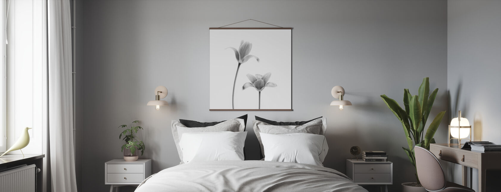 Two Tulips - Poster - Bedroom