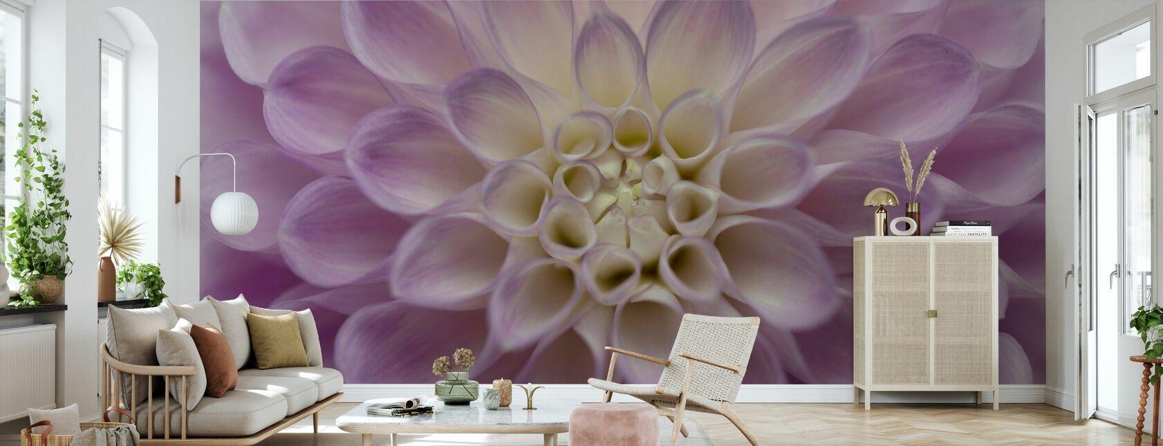 Dahlia - Wallpaper - Living Room