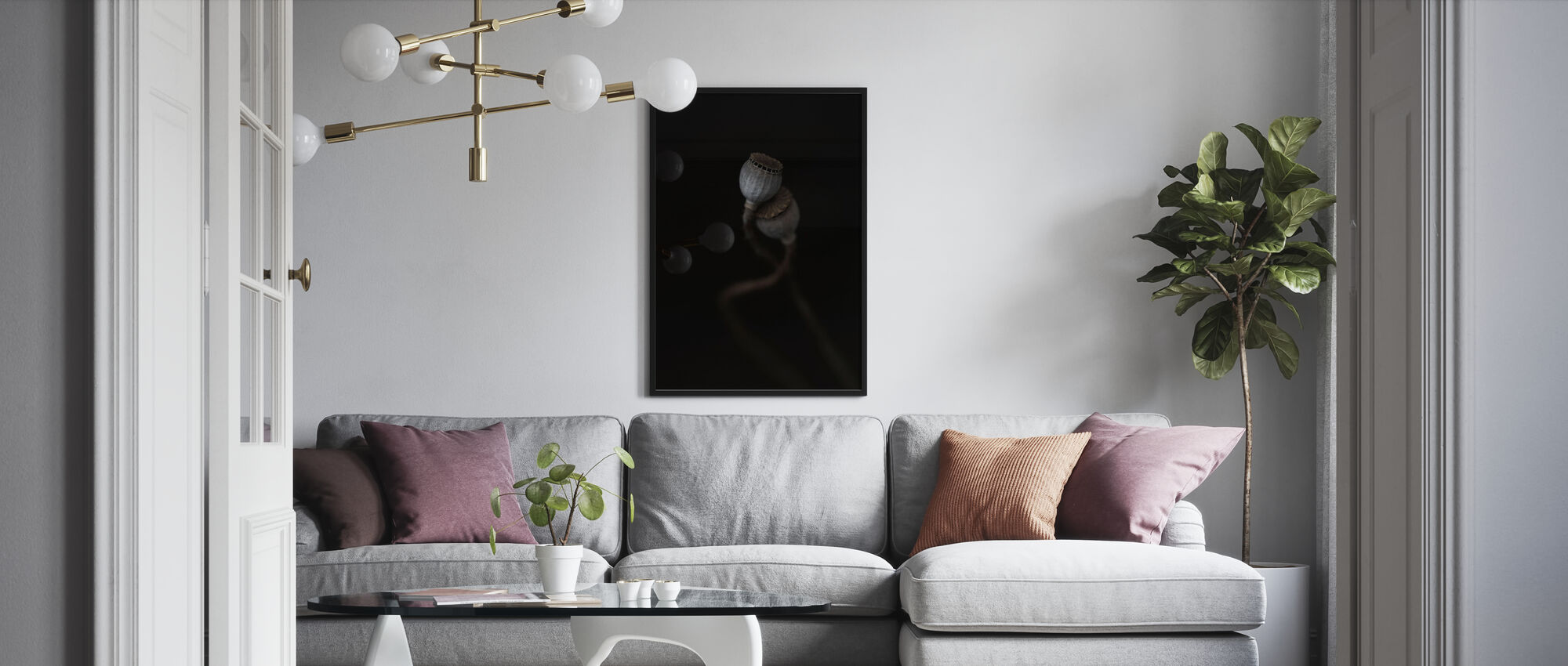 Twee keer - Ingelijste print - Woonkamer