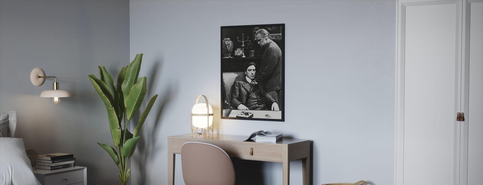 Gudfaren - Al Pacino og Marlon Brando - Plakat - Soverom