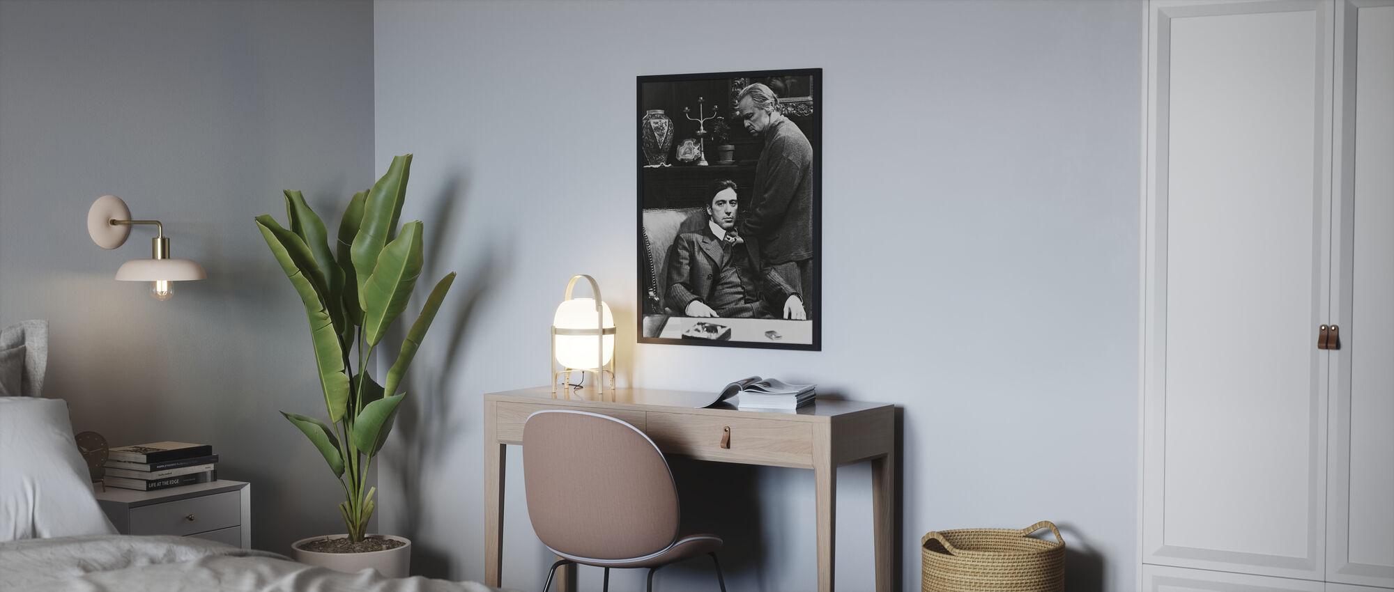 Parrain - Al Pacino et Marlon Brando - Affiche - Chambre