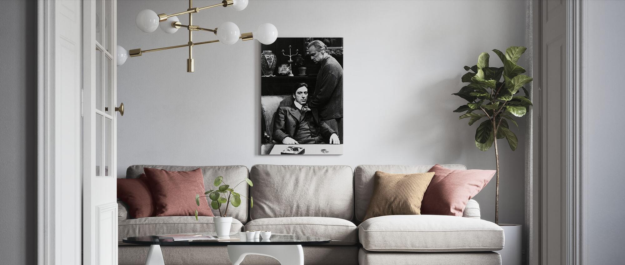 Godfather - Al Pacino and Marlon Brando - Canvas print - Living Room