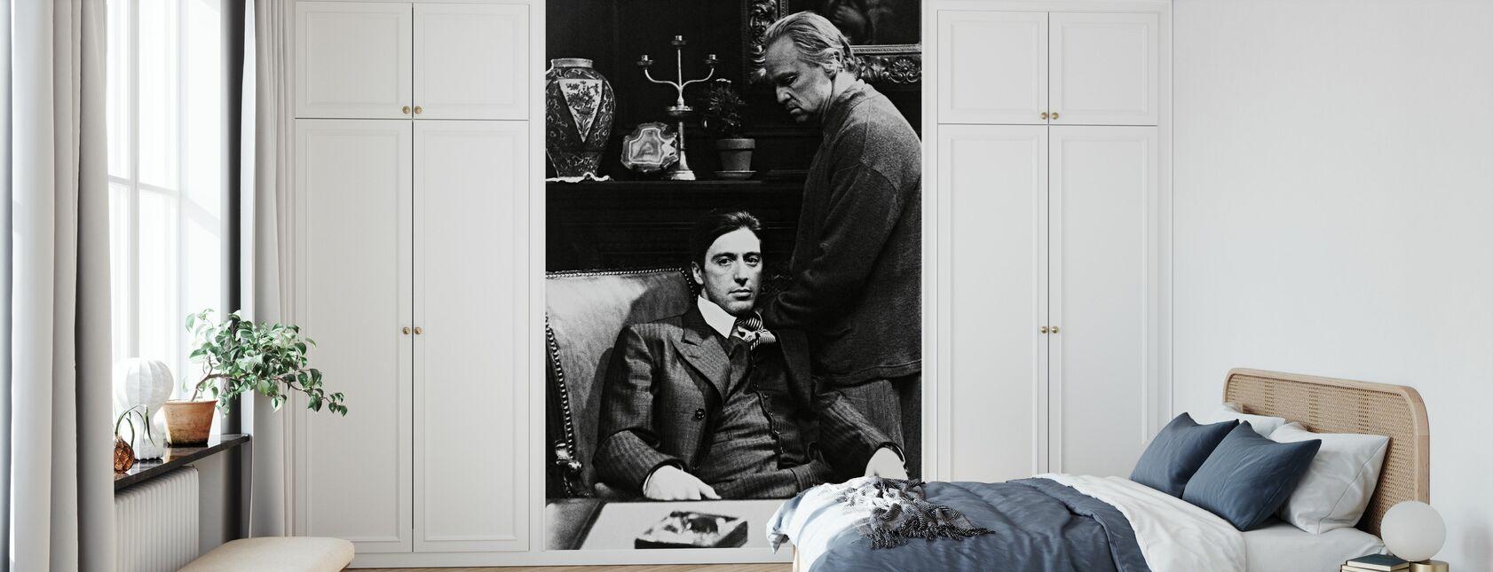 Gudfadern - Al Pacino och Marlon Brando - Tapet - Sovrum