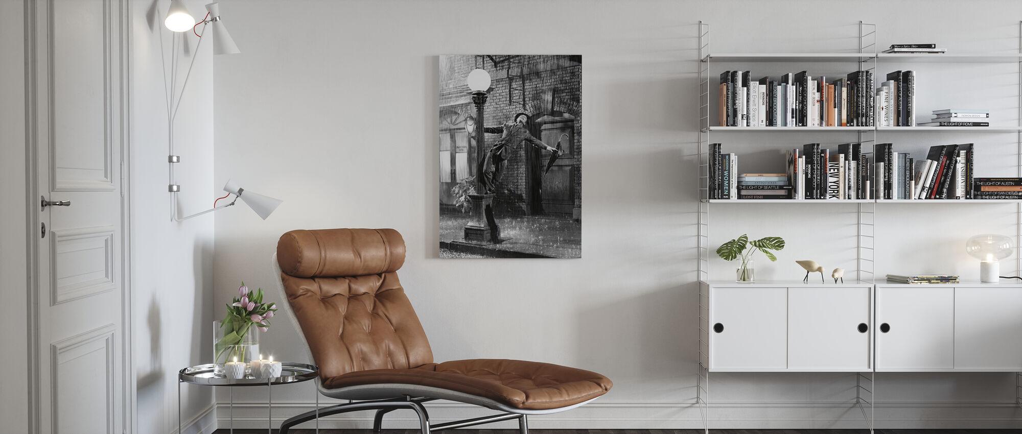 Singing - Gene Kelly - Canvas print - Living Room