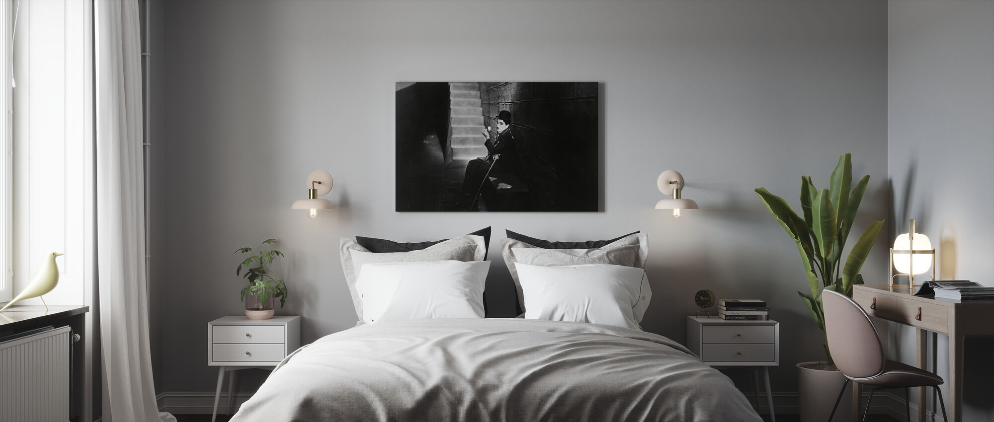 City Lights - Charlie Chaplin - Canvas print - Bedroom