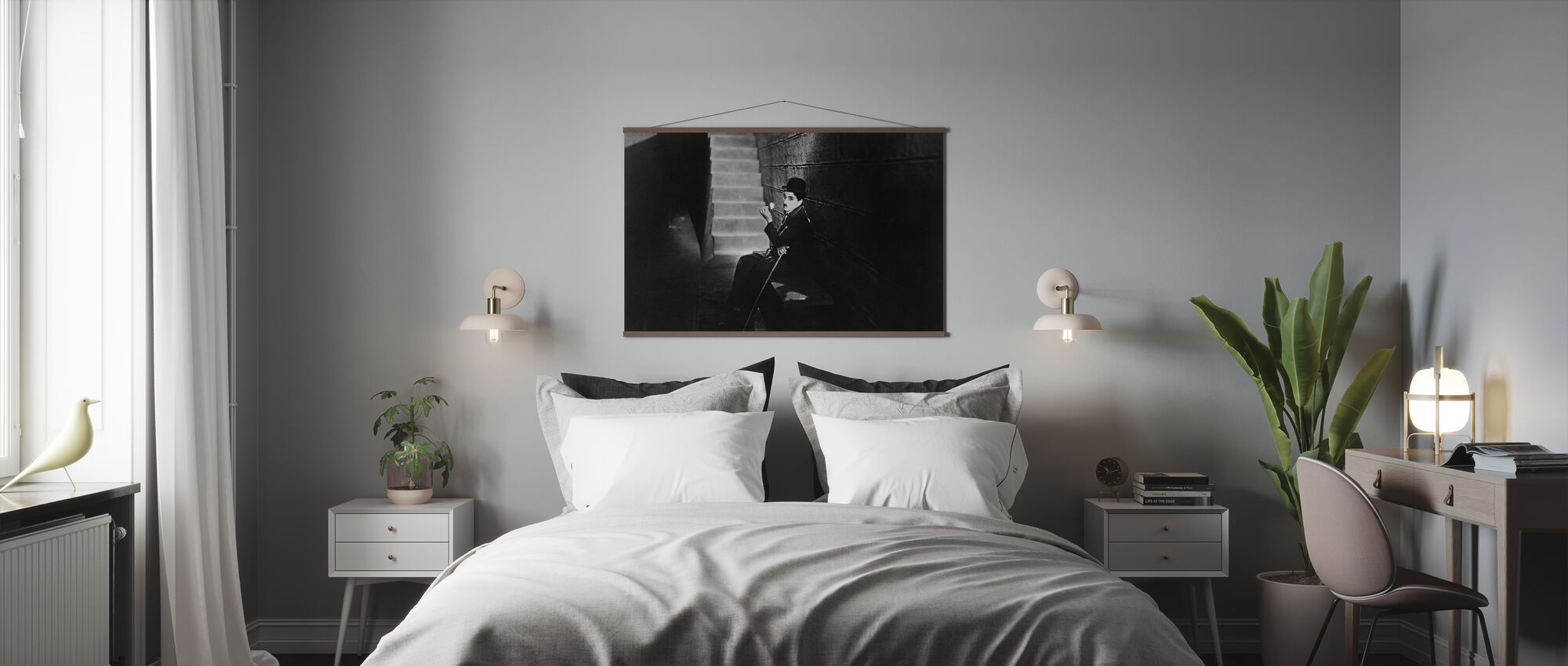 City Lights - Charlie Chaplin - Poster - Bedroom