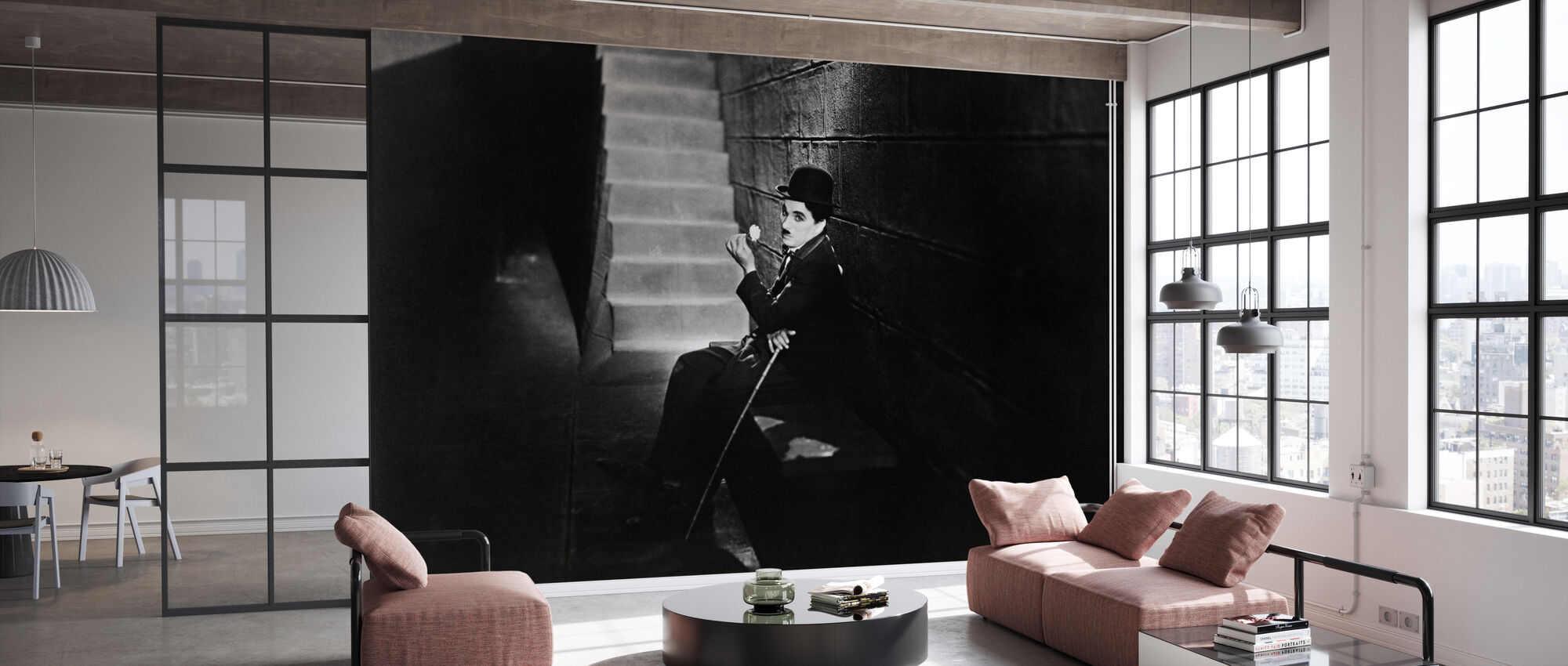 City Lights - Charlie Chaplin - Wallpaper - Office