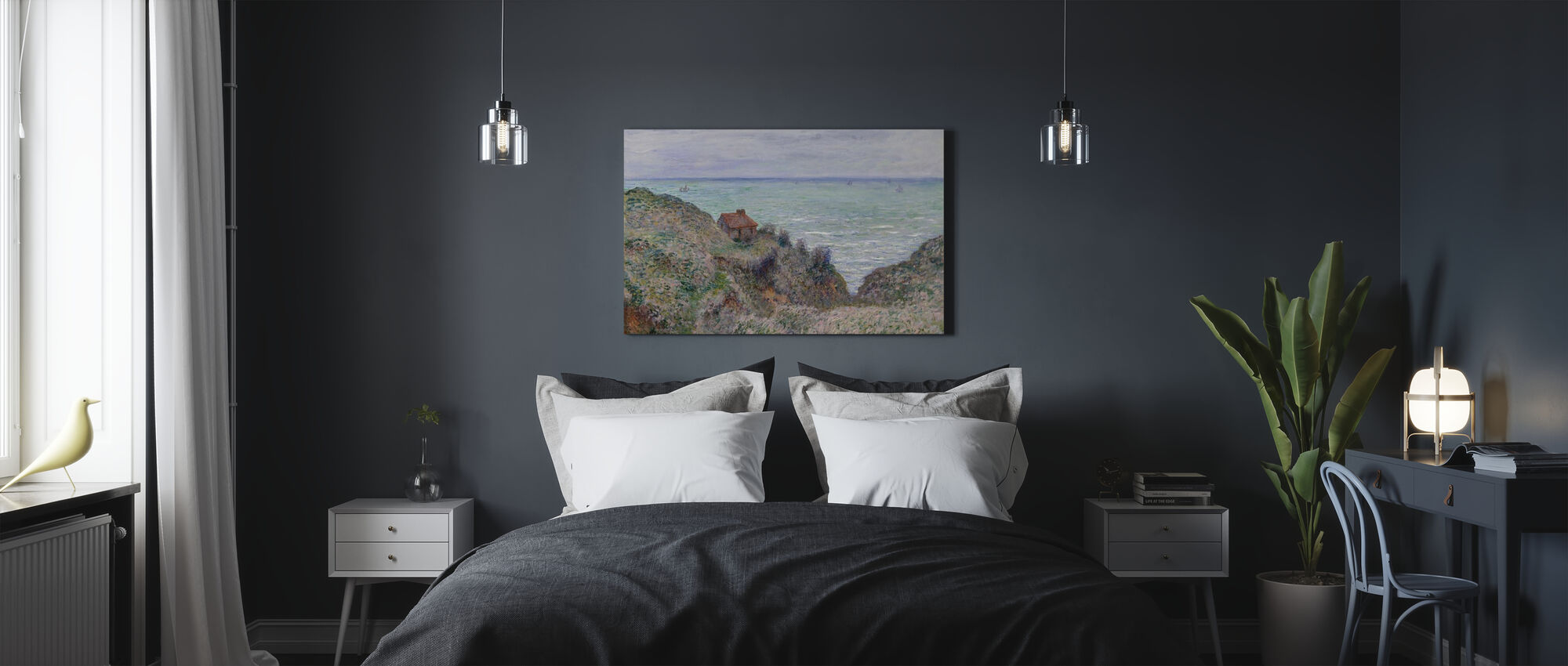 Cabin - Claude Monet - Canvas print - Bedroom