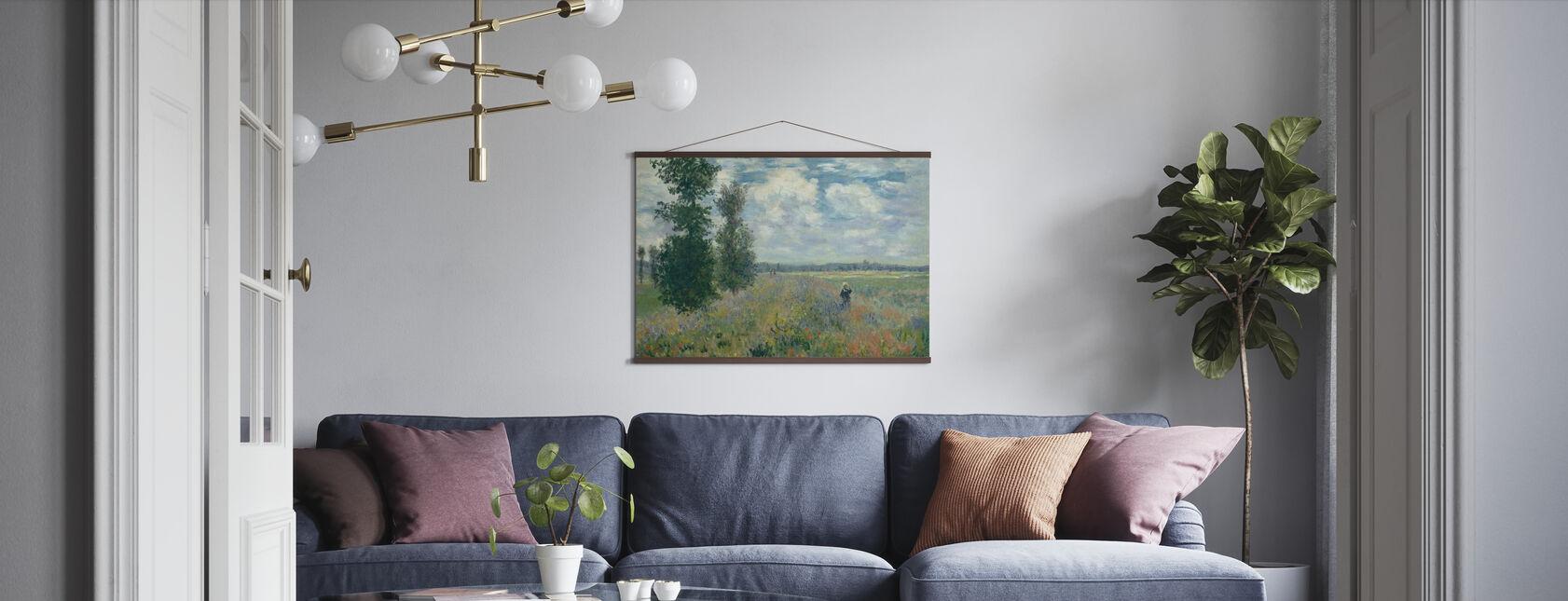 Valmuefelter - Claude Monet - Plakat - Stue