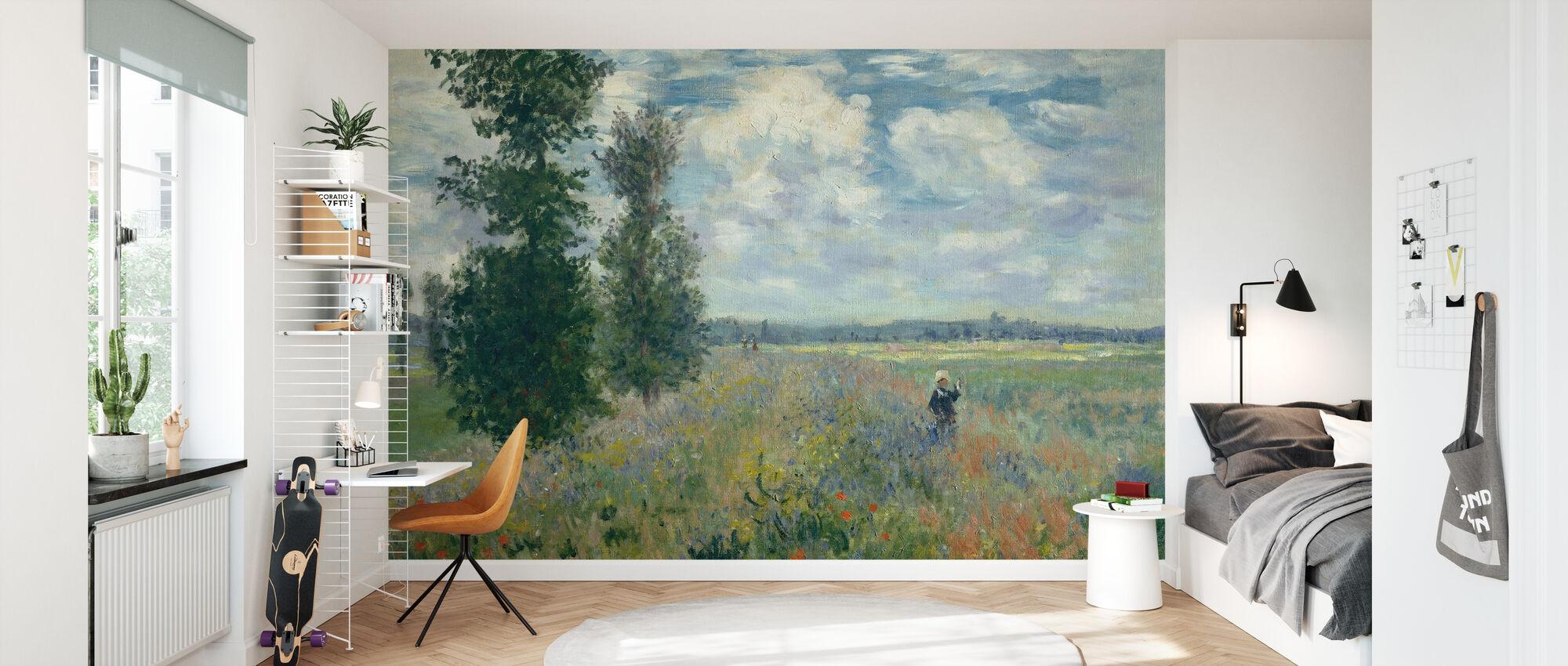 Poppy Fields - Claude Monet - Wallpaper - Kids Room