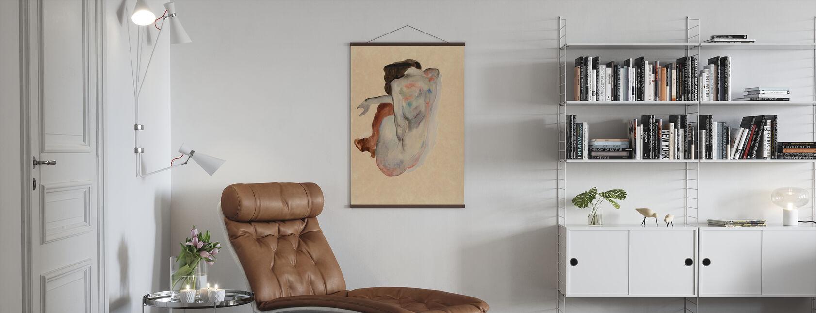 Kruching nøgen - Egon Schiele - Plakat - Stue