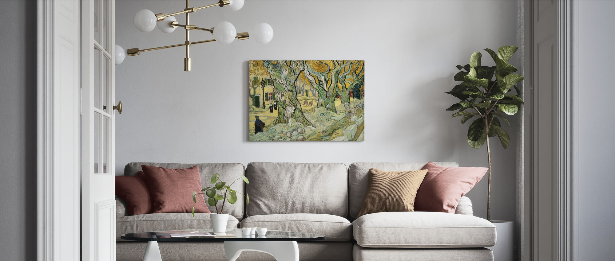 Road Menders - Vincent Van Gogh - Canvas print - Living Room