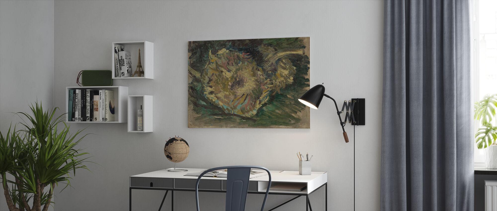 Two Cut Sunflowers - Vincent Van Gogh - Canvas print - Office