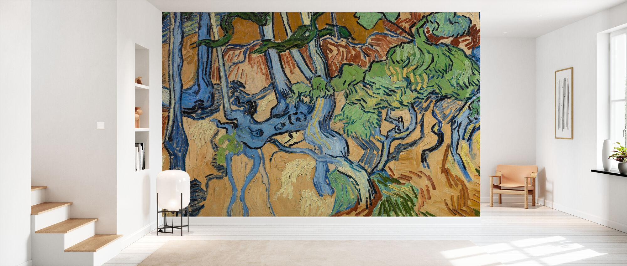 Boomwortels - Vincent Van Gogh - Behang - Gang