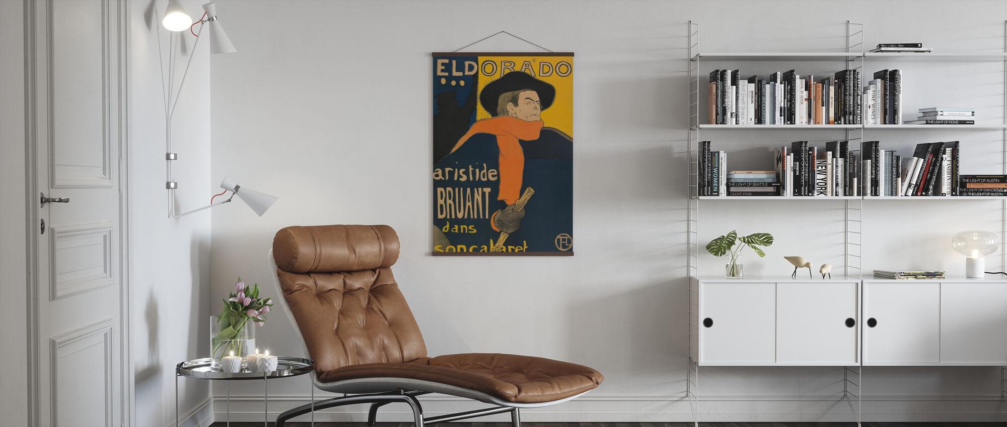 Café Concert Eldorado - Aristide Bruant - Poster - Woonkamer