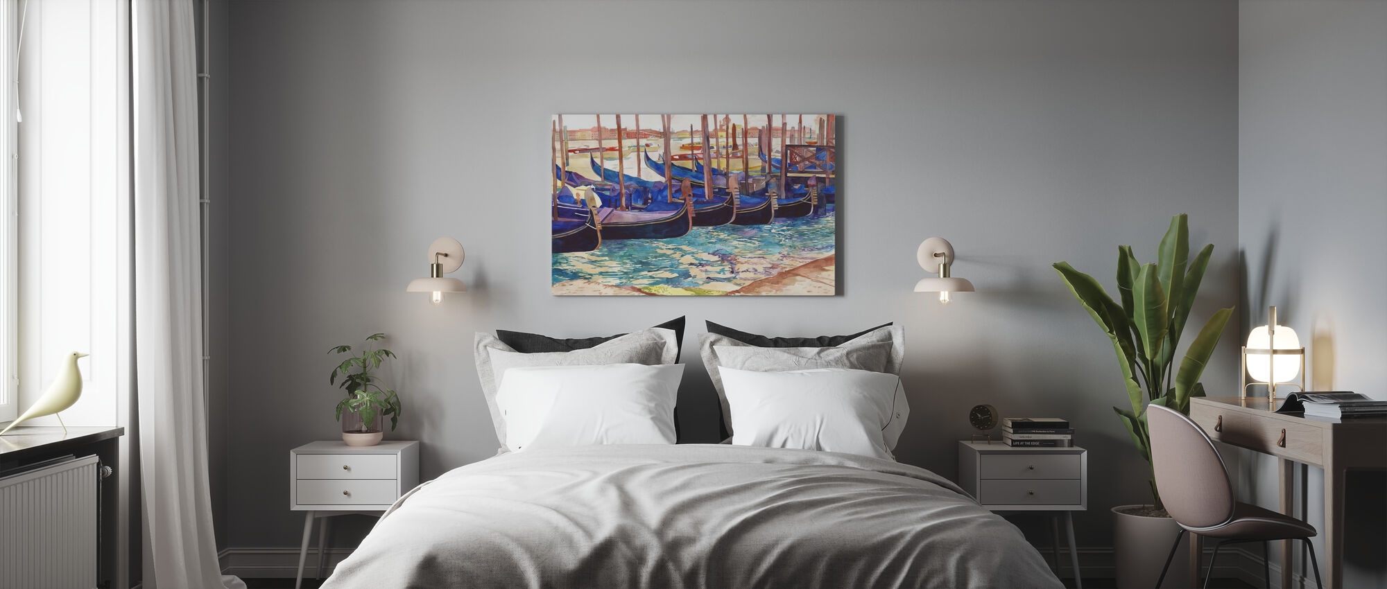 Gondolas in Venice - Canvas print - Bedroom