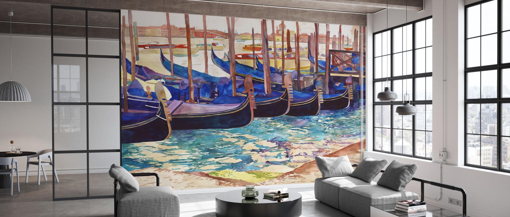 Gondolas in Venice - Wallpaper - Office