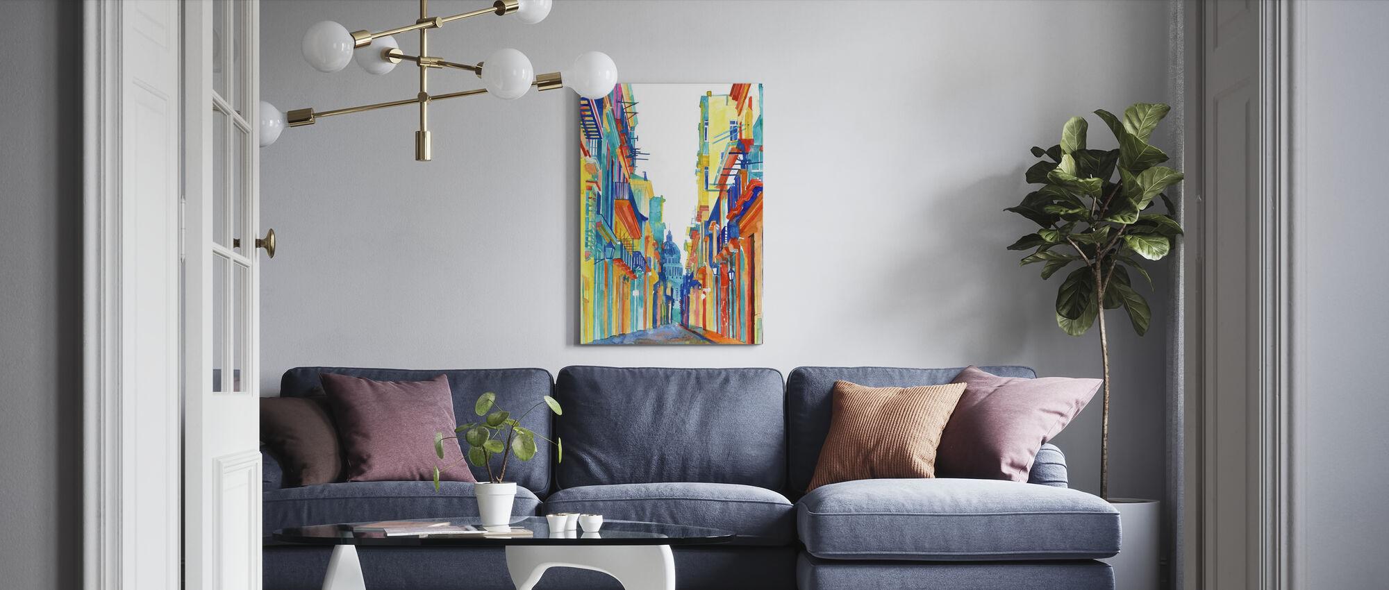 Havana Street - Canvas print - Living Room