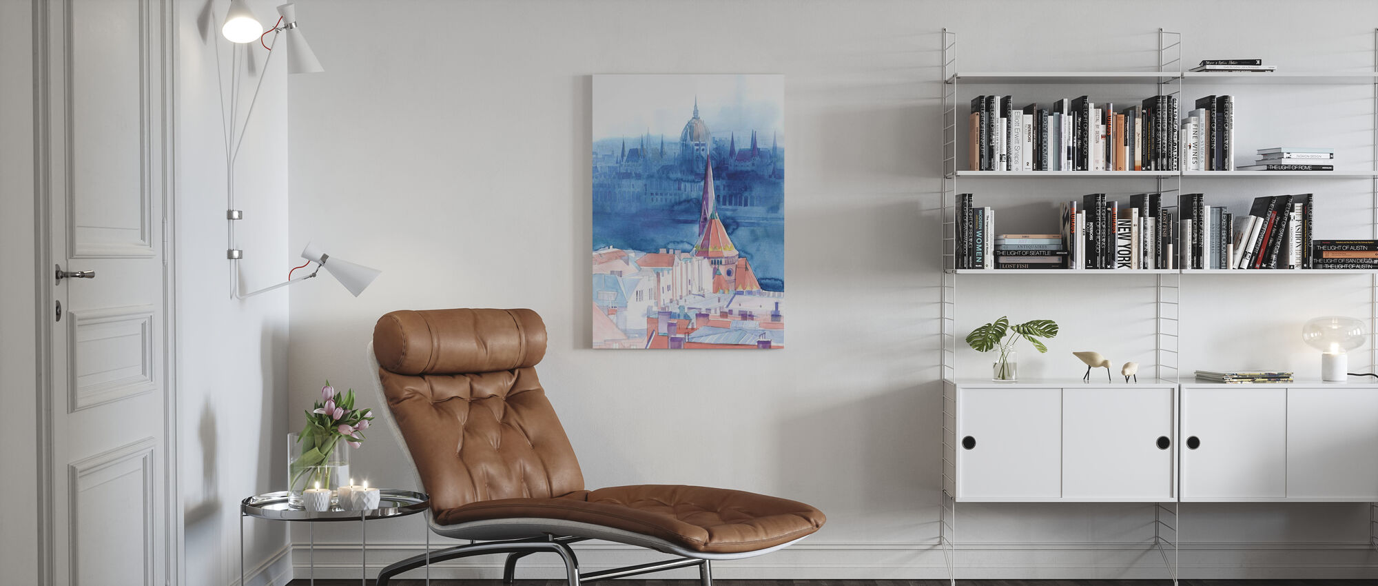 Morning in Budapest - Canvas print - Living Room