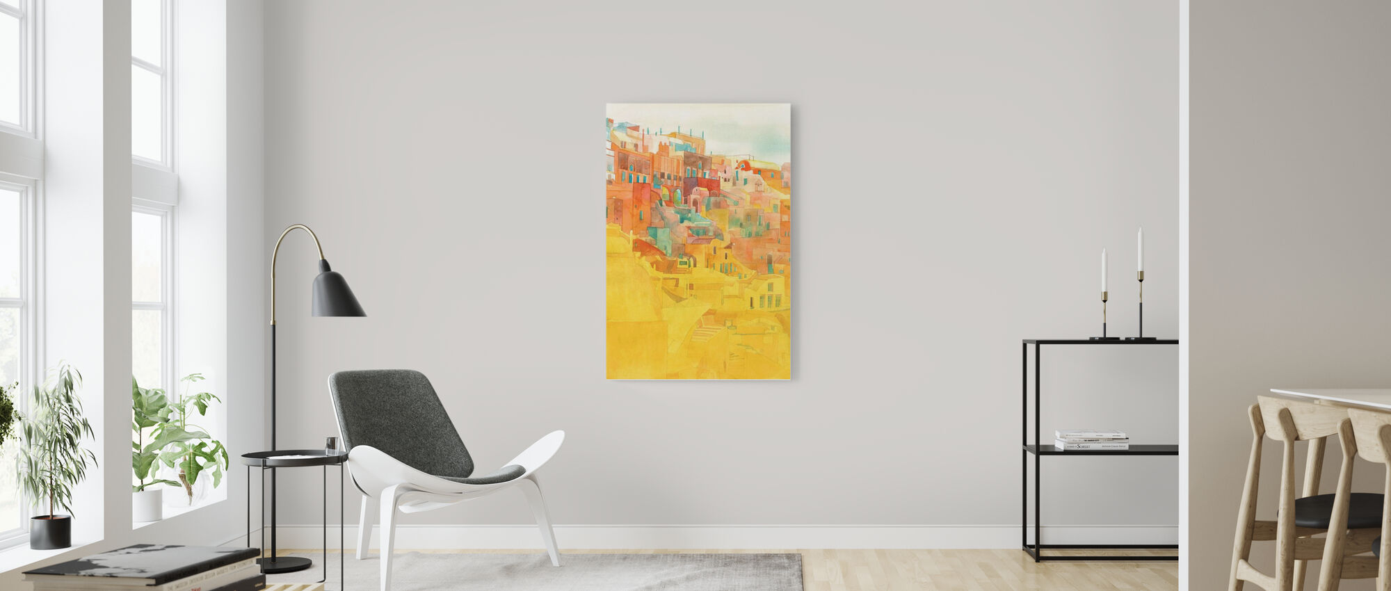 Summer on Mykonos - Canvas print - Living Room