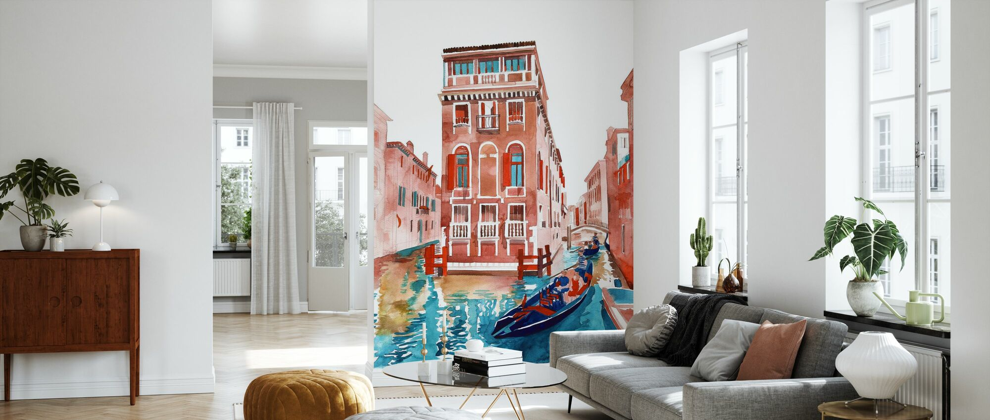 Venice Street - Wallpaper - Living Room