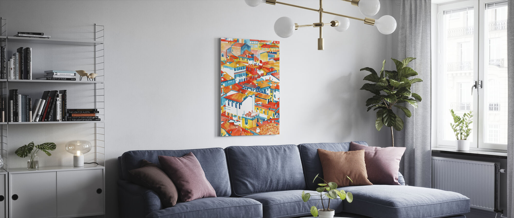 Verona Buildings - Canvas print - Living Room
