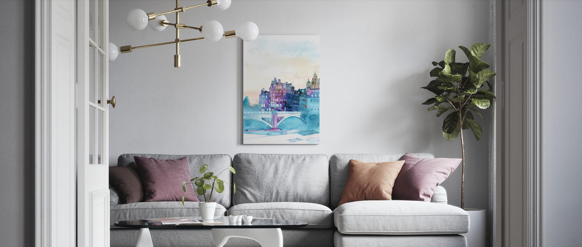 Winter in Edinburgh - Canvas print - Living Room