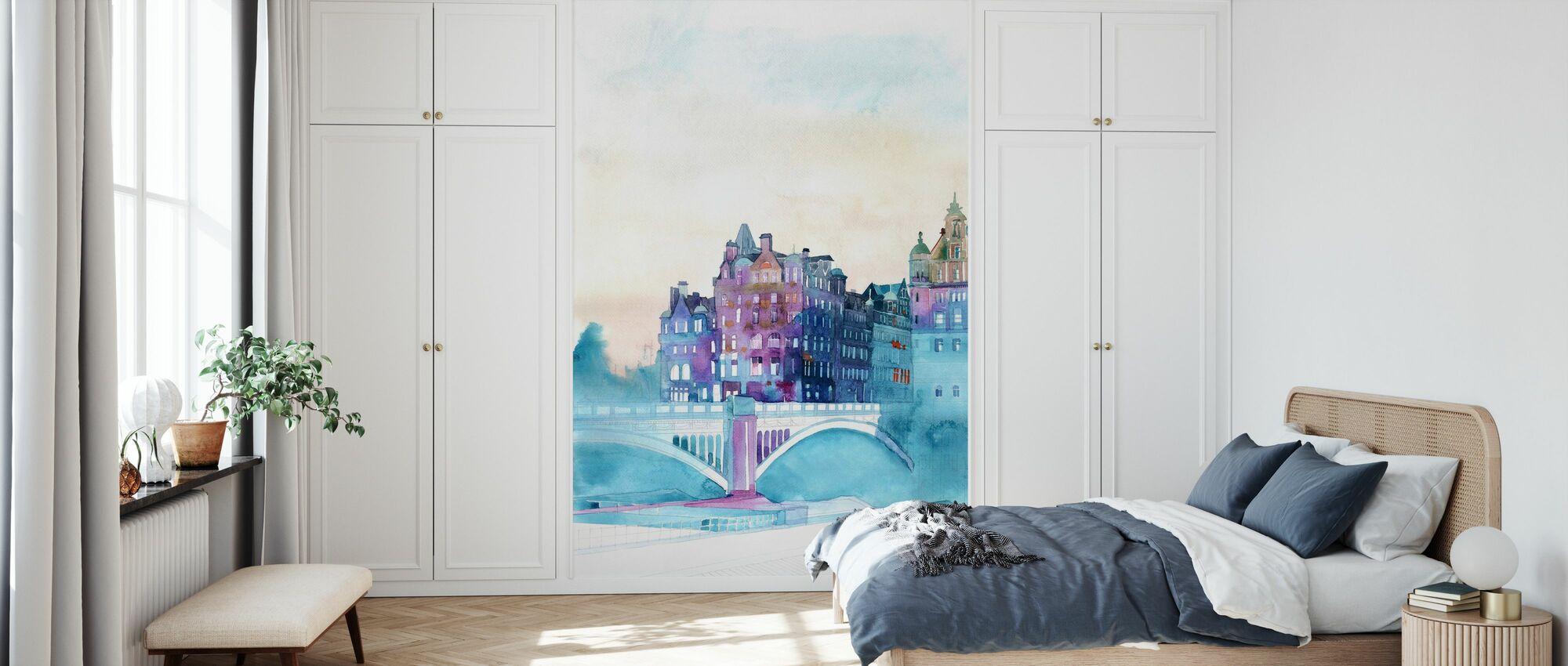 Talvi Edinburghissa - Tapetti - Makuuhuone