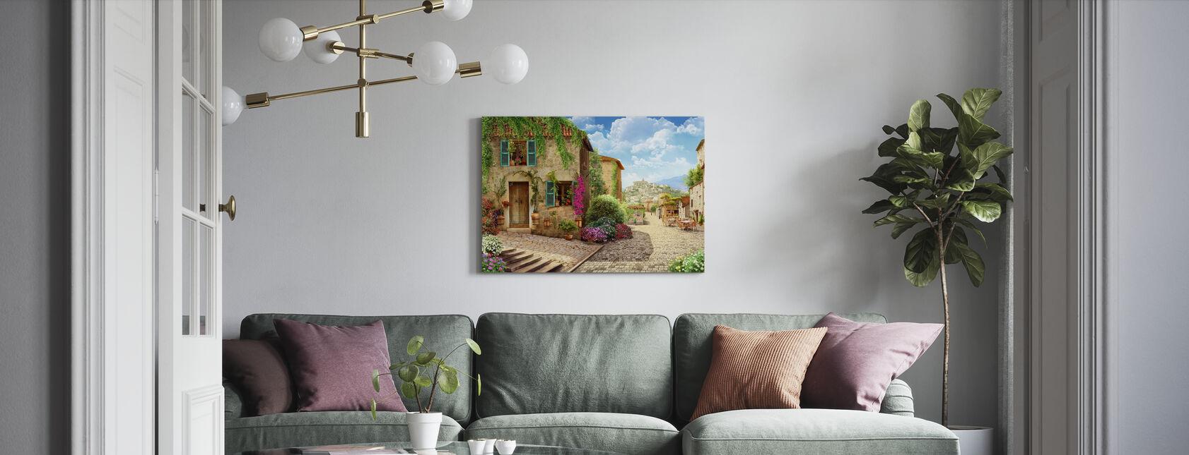 Tuscany Street - Canvas print - Living Room
