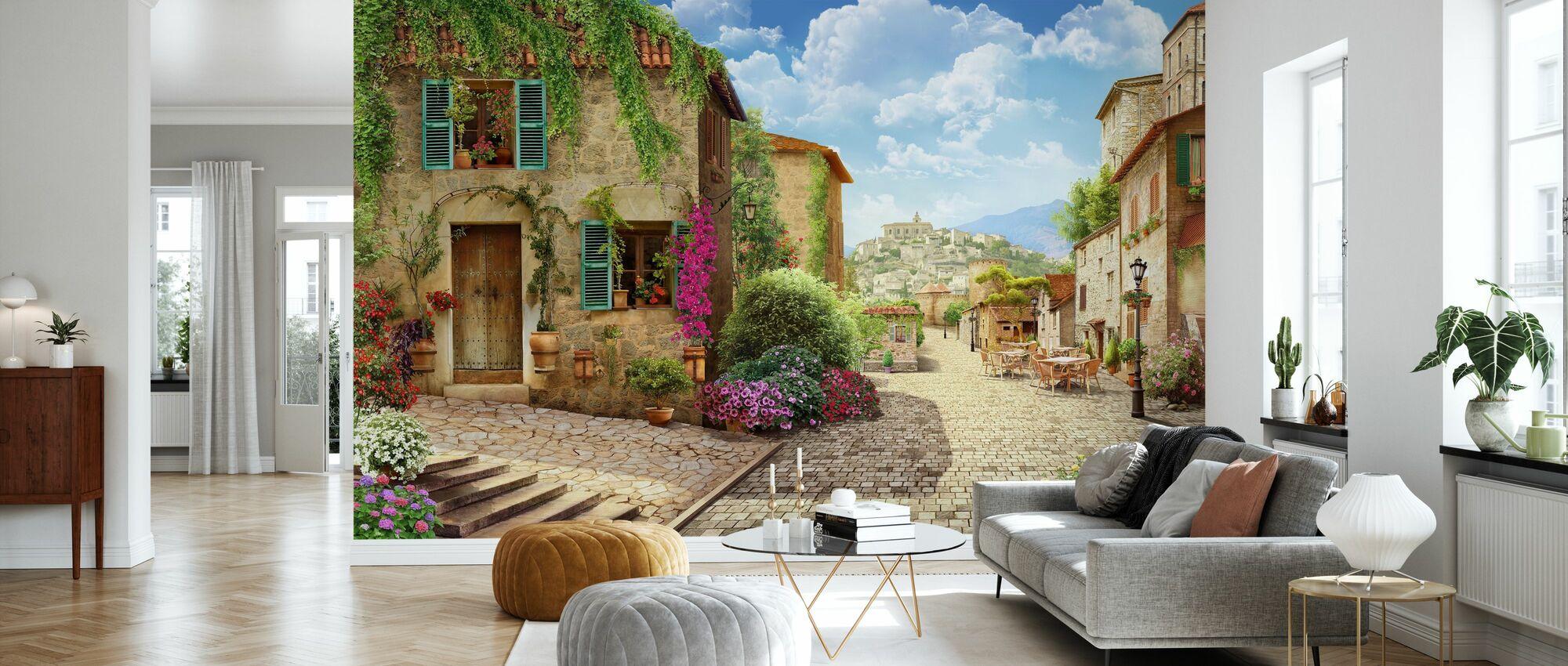 Tuscany Street - Wallpaper - Living Room