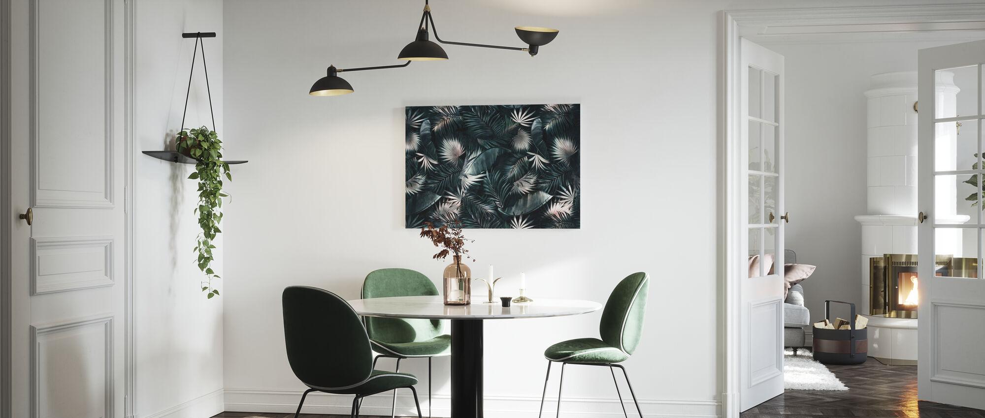 Tropische bladeren - Donker - Canvas print - Keuken