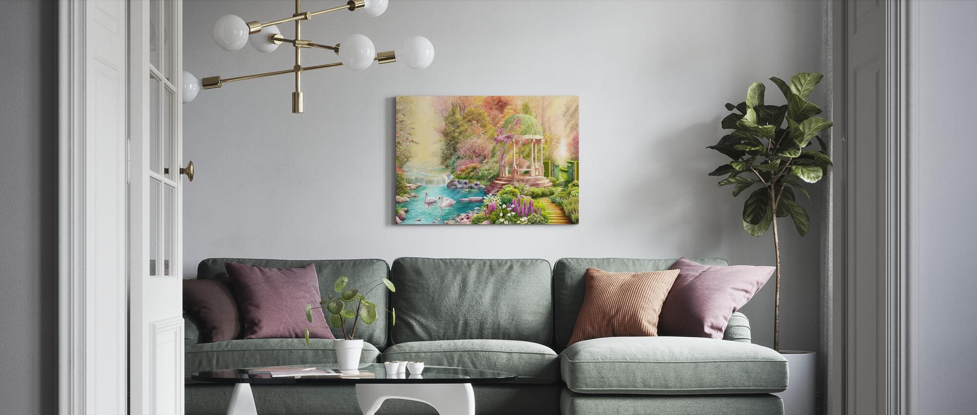 Swans Paradise - Canvas print - Living Room