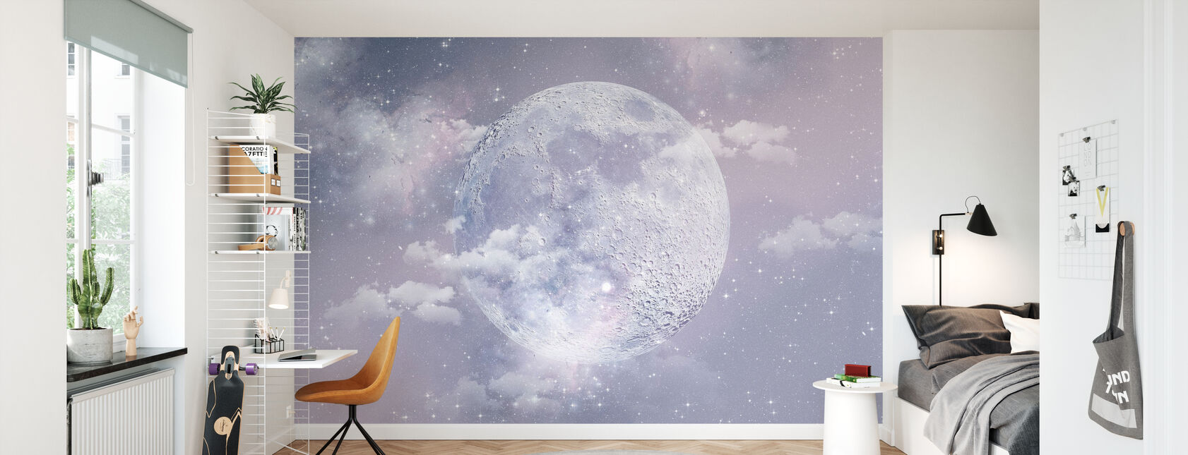 Księżyc - Tapeta - Pokój dziecięcy