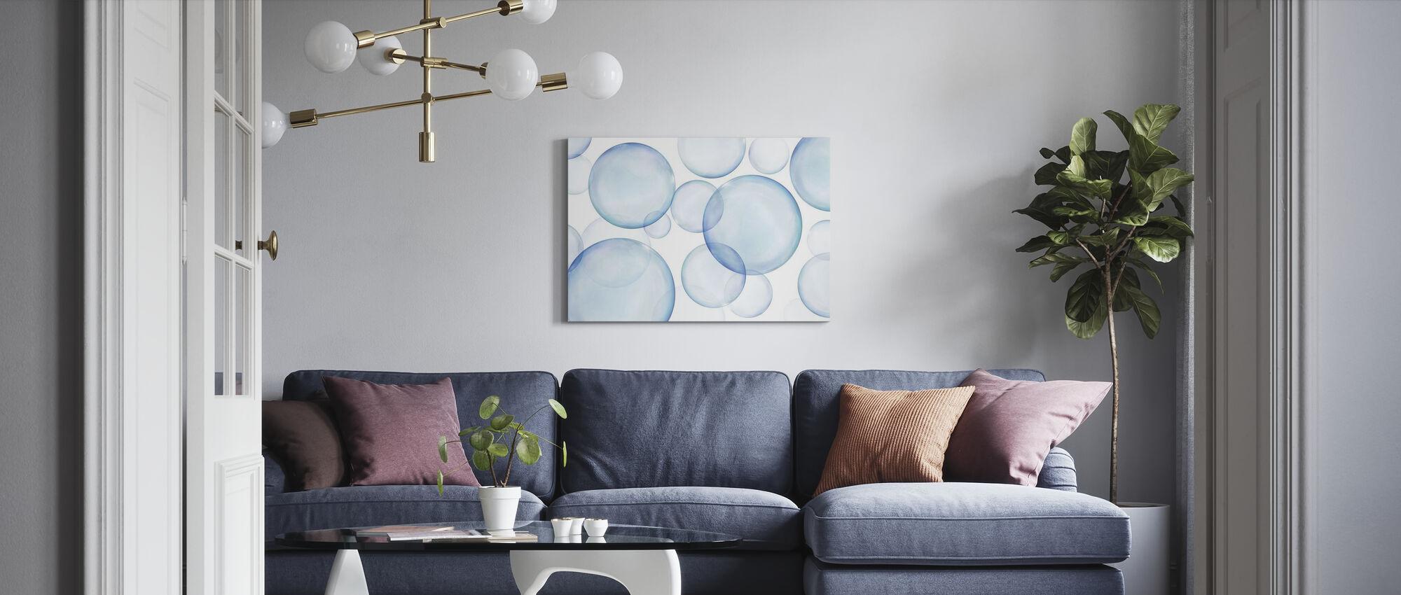 Rising Bubbles - Canvas print - Living Room