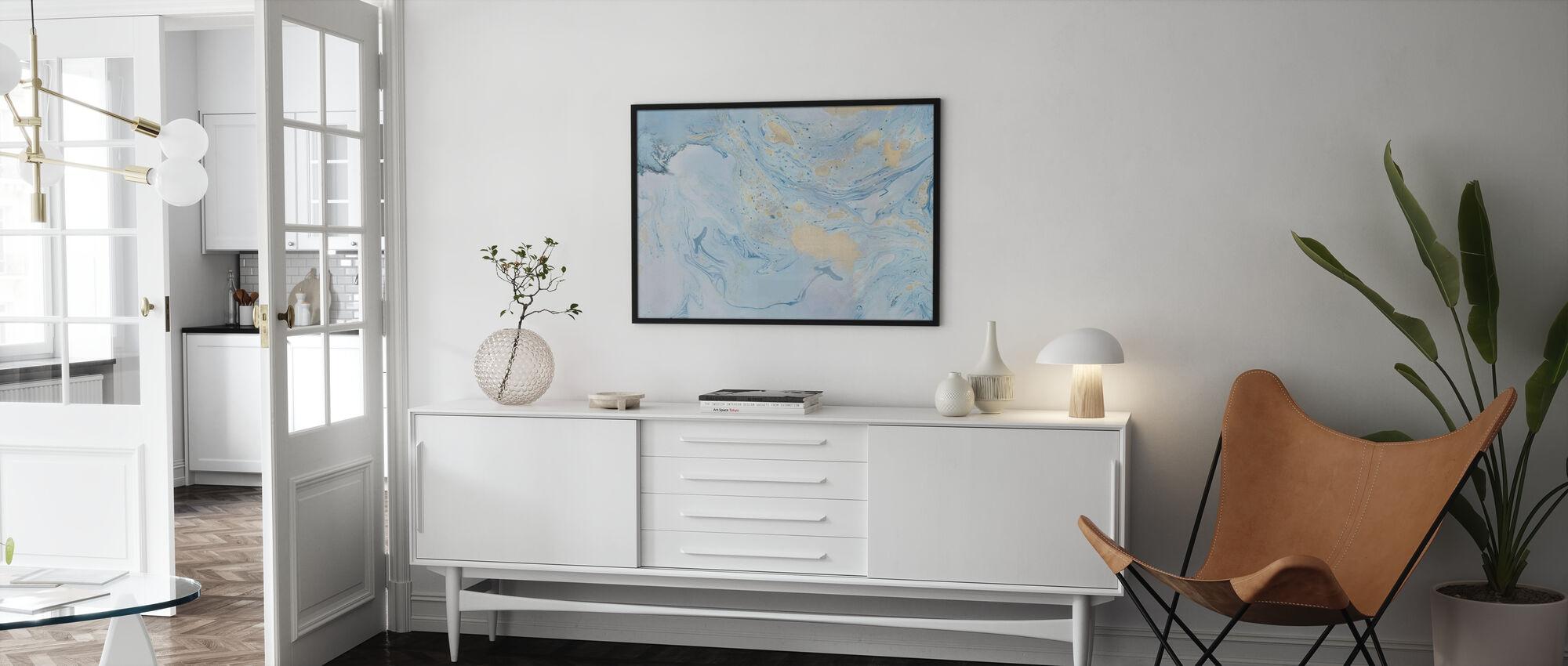 Marble Story - Framed print - Living Room