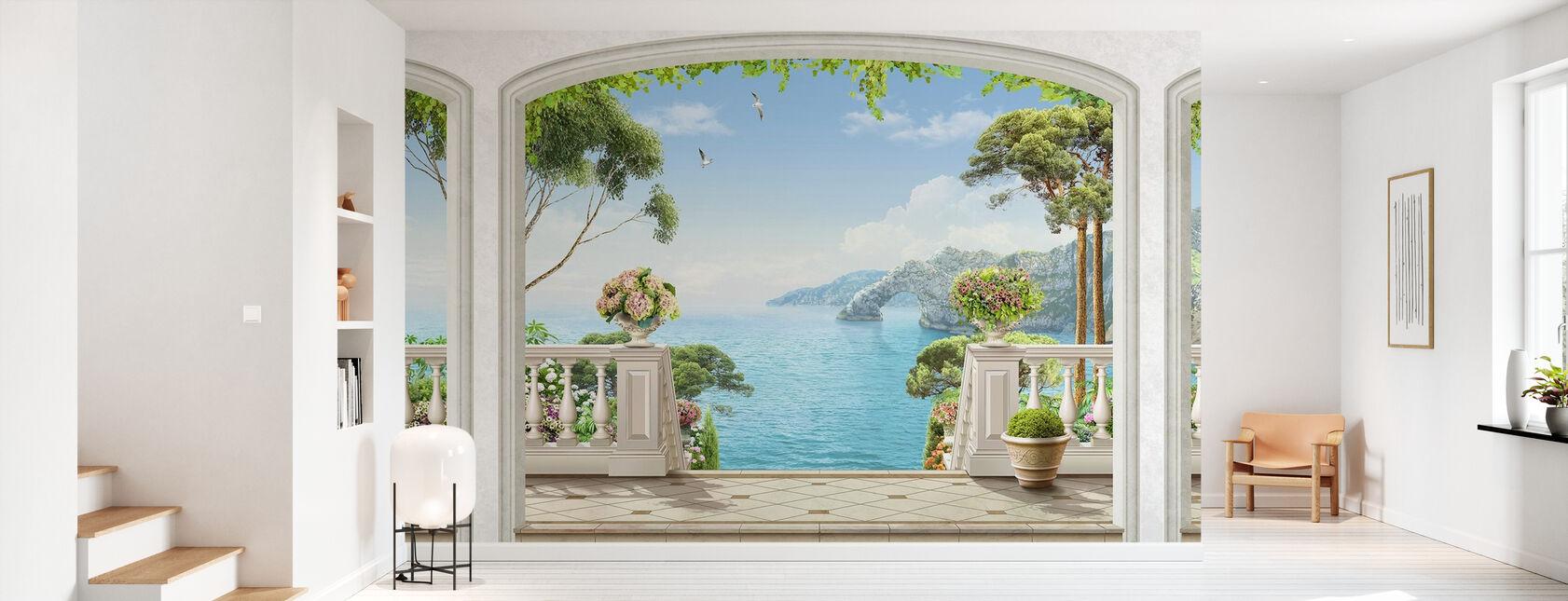 Terrace Sea View - Wallpaper - Hallway