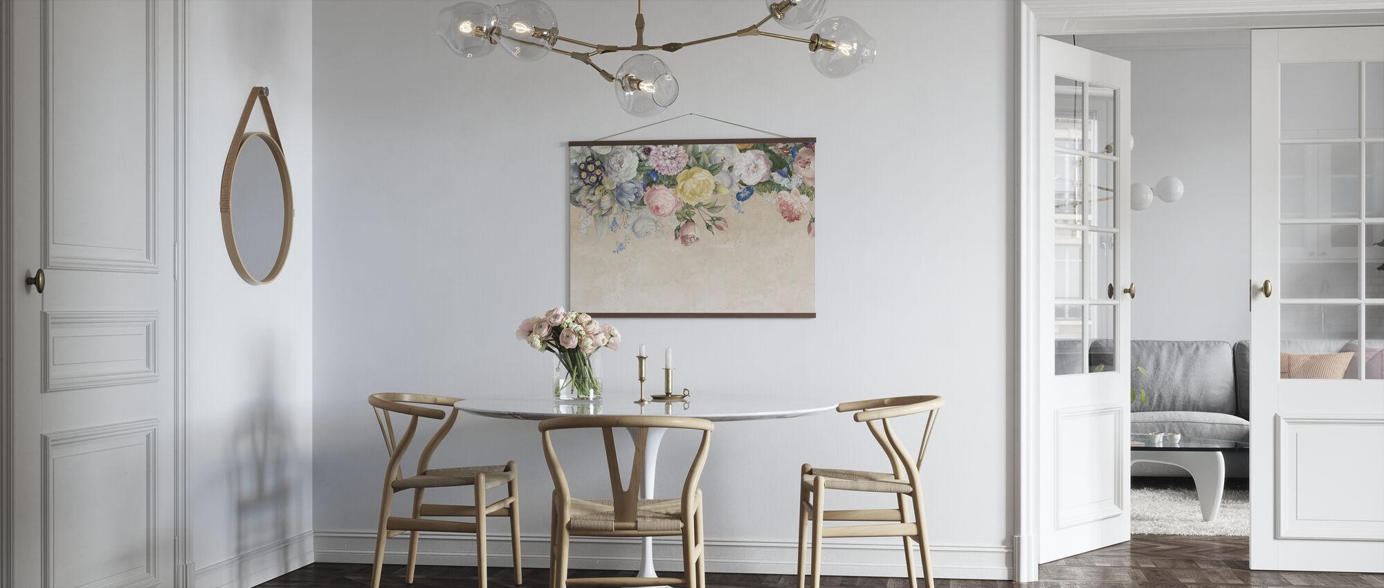 Vägg av blommor - Poster - Kök