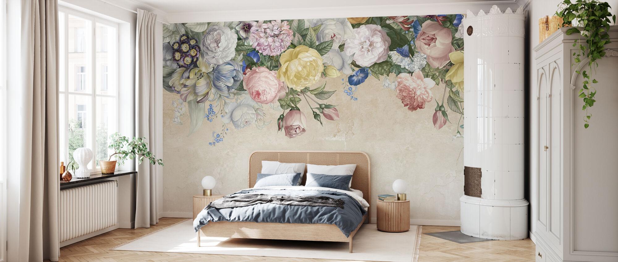 Muur van Bloemen - Behang - Slaapkamer