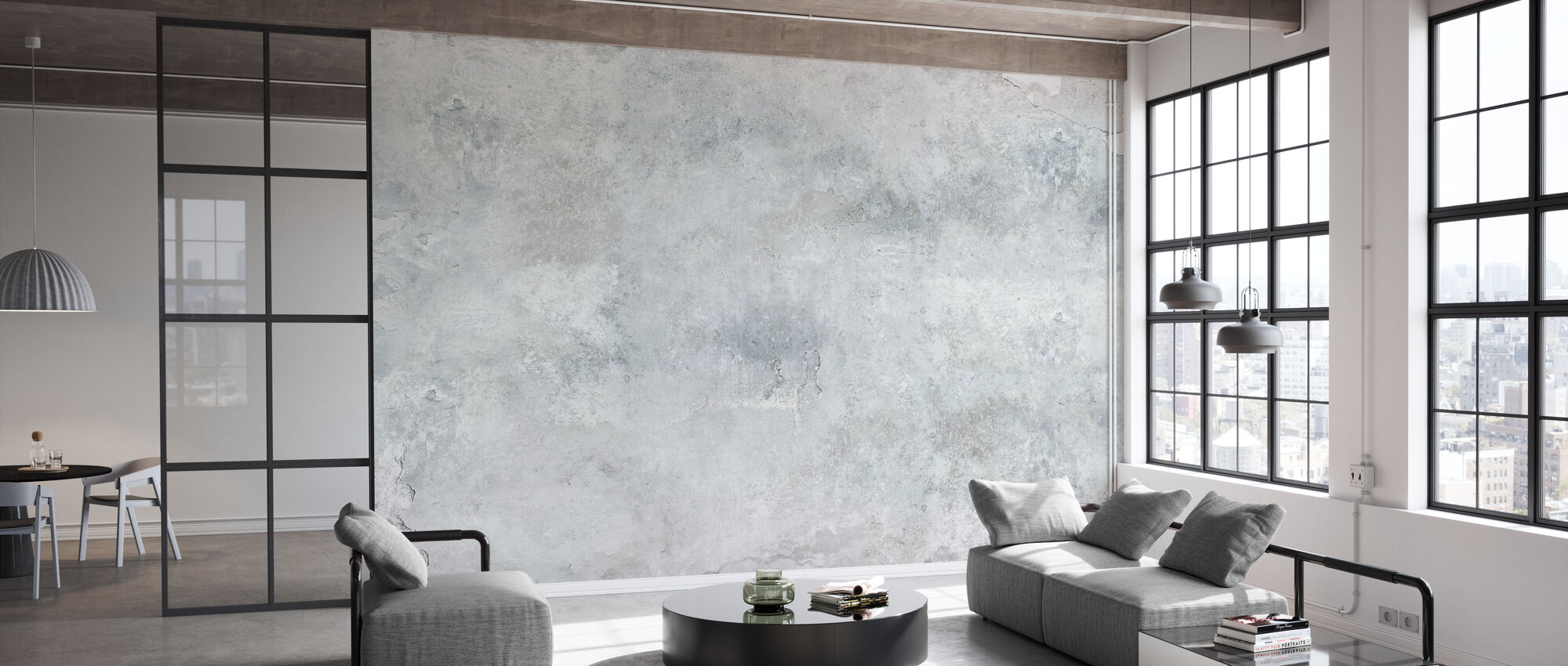 Torned Concrete Wall - Wallpaper - Office