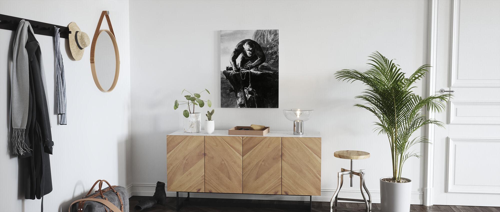 King Kong - Fay Wray - Impression sur toile - Entrée