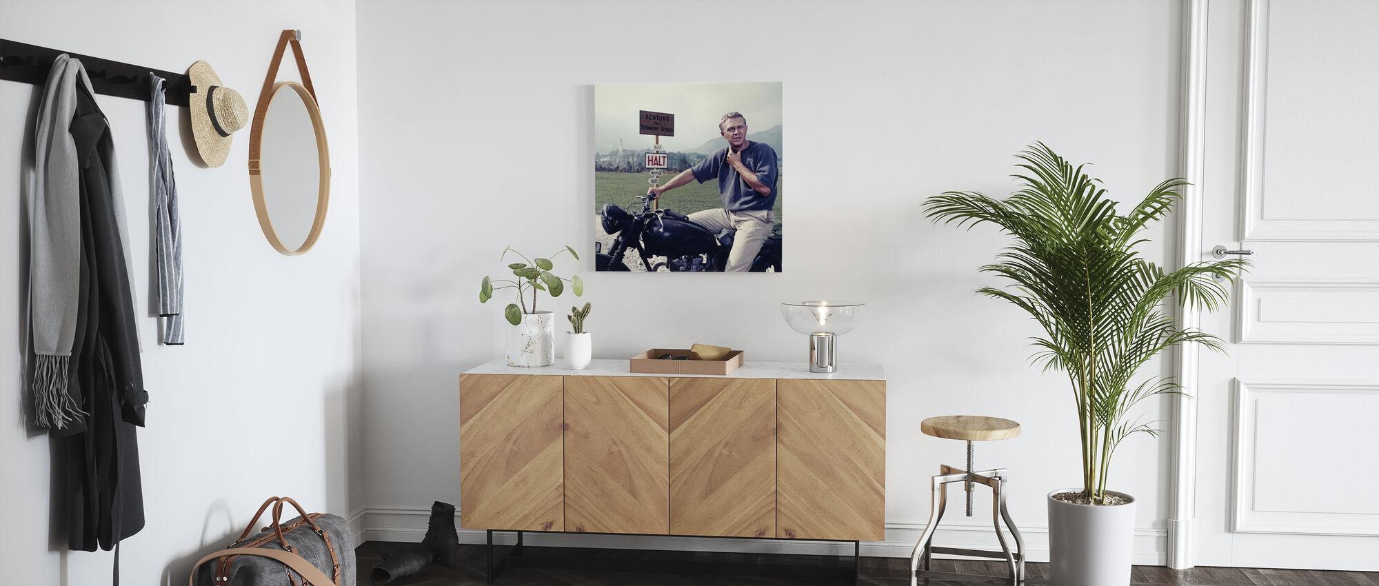 Great Escape -Steve McQueen - Canvas print - Hallway