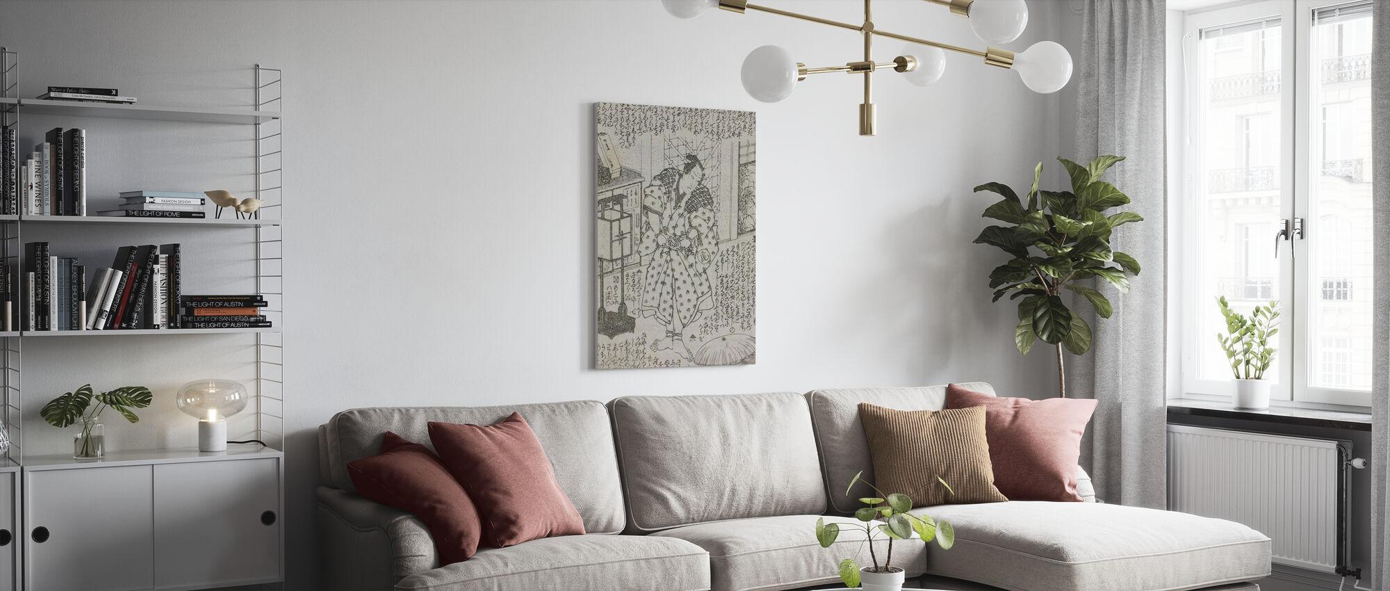Novel Illustration - Utagawa Kunisada - Canvas print - Living Room