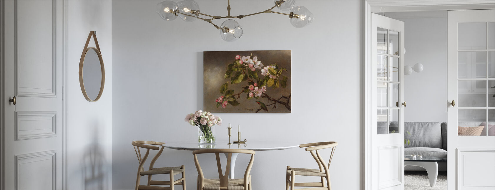 Kolibrie en appelbloesems - Martin Johnson Heade - Canvas print - Keuken
